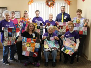 Royal Neighbors Donate Sensory Blankets to GCH
